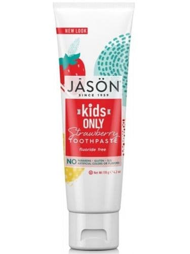 Jasons Natural Organic Kids Strawberry Toothpaste Flouride Free